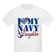 I Love My Navy Daughter T-Shirt