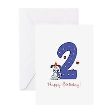 Second Birthday Dog Greeting Card