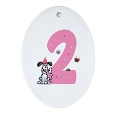 Second Birthday Dog Ornament (Oval)