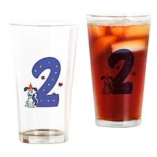 Second Birthday Dog Drinking Glass