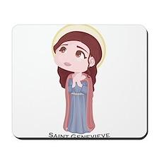 Cute Catholic Saint Genevieve Mousepad