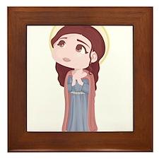 Cute Catholic Saint Genevieve Framed Tile