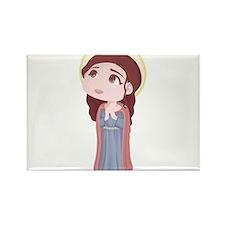 Cute Catholic Saint Genevieve Rectangle Magnet