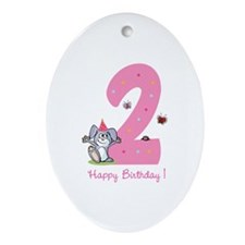 Second Birthday Bunny Ornament (Oval)