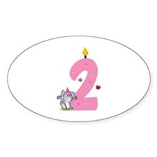 Second Birthday Bunny Decal