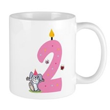 Second Birthday Bunny Small Mug
