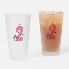 Second Birthday Bunny Drinking Glass