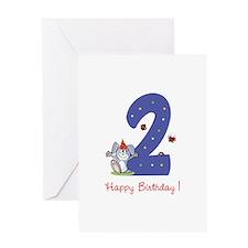 Second Birthday Bunny Greeting Card
