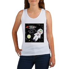 Monkeys In Space Aliens Space Walk Tank Top