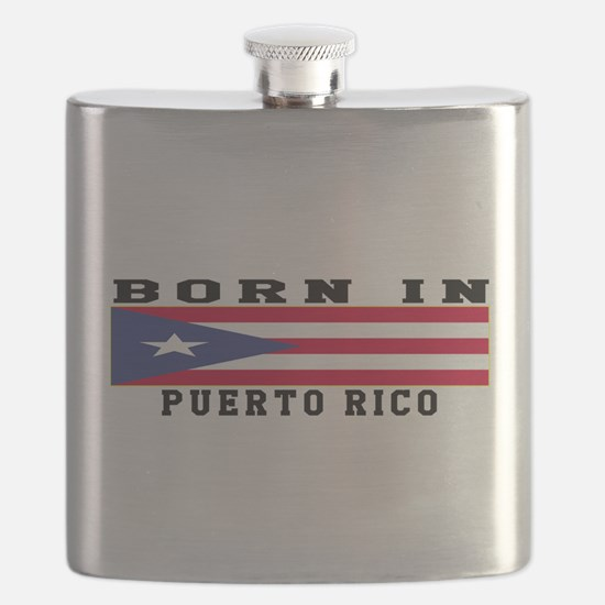 Born In Puerto Rico Flask