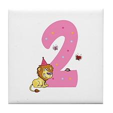 Second Birthday Leon Tile Coaster