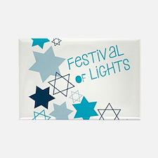 Festival Of Lights Rectangle Magnet
