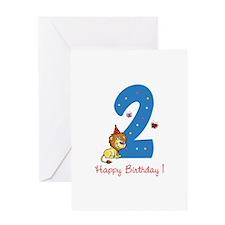 Second Birthday Leon Greeting Card