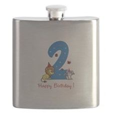 Second Birthday Leon and Bunny Flask
