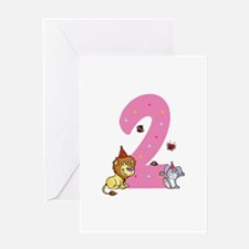 Second Birthday Leon and Bunny Greeting Card