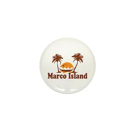 Marco Island - Palm Trees Design. Mini Button