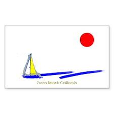 Zuma Beach California Rectangle Decal