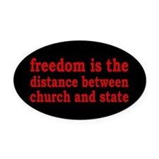 Separation of Church and State Oval Car Magnet