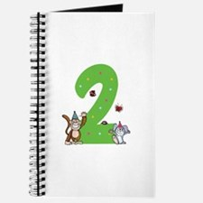 Second Birthday Monkey and Bunny Journal