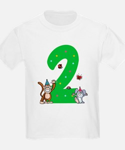 Second Birthday Monkey and Bunny T-Shirt