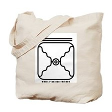 WHITE Planetary MIRROR Tote Bag
