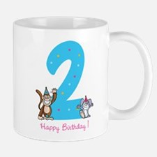 Second Birthday Monkey and Bunny Mug