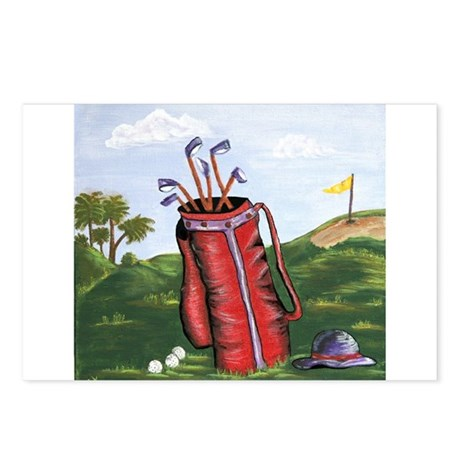 Golf for women Postcards (Package of 8)