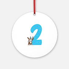 Second Birthday Monkey Ornament (Round)
