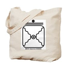 WHITE Spectral MIRROR Tote Bag