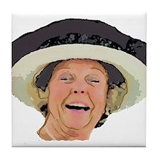 Laughing Queen Beatrix Tile Coaster