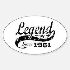 Legend Since 1951 Sticker (Oval)