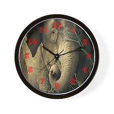 Asain Elephant  Wall Clock