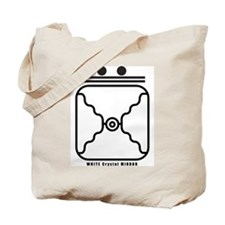 WHITE Crystal MIRROR Tote Bag