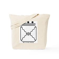 WHITE Cosmic MIRROR Tote Bag