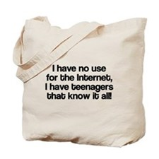 No Use For The Internet Tote Bag