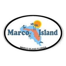 Marco Island - Map Design. Decal