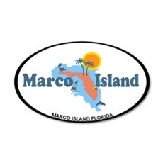 Marco Island - Map Design. Wall Decal
