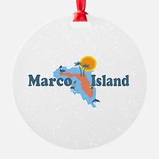 Marco Island - Map Design. Ornament