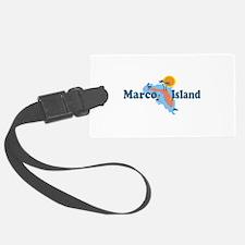Marco Island - Map Design. Luggage Tag