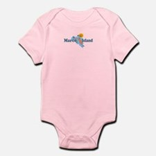 Marco Island - Map Design. Infant Bodysuit