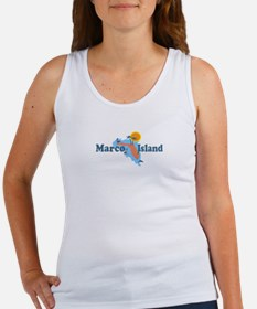 Marco Island - Map Design. Women's Tank Top