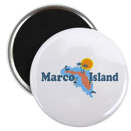 Marco Island - Map Design. Magnet