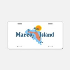 Marco Island - Map Design. Aluminum License Plate