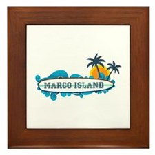 Marco Island - Surf Design. Framed Tile