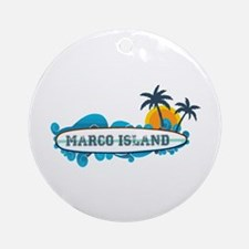 Marco Island - Surf Design. Ornament (Round)