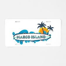 Marco Island - Surf Design. Aluminum License Plate