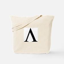 Greek Lambda Spartan Symbol Tote Bag