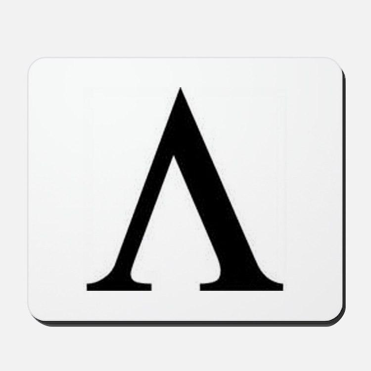 Greek Lambda Spartan Symbol Mousepad