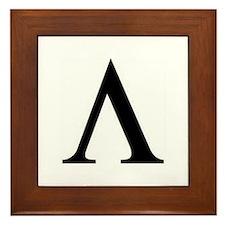 Greek Lambda Spartan Symbol Framed Tile