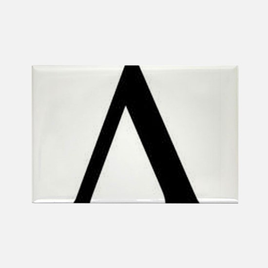 Greek Lambda Spartan Symbol Rectangle Magnet